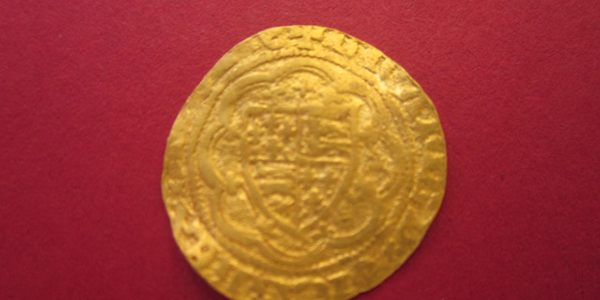 Gold quarter noble find by Clive Rawle